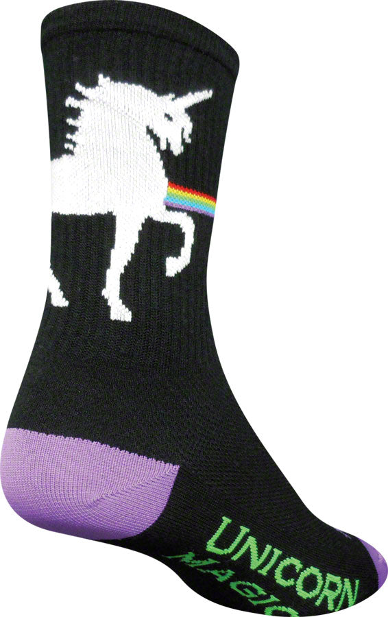 SockGuy Unicorn Express Sock: Black SM/MD
