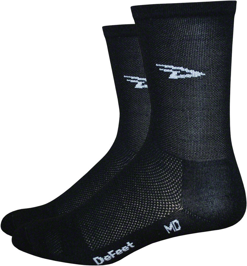 DeFeet Aireator D-Logo Socks - 5 inch, Black, Medium