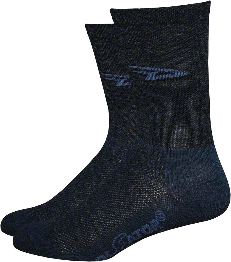 DeFeet Wooleator D-Logo Socks - 5 inch, Black, Large