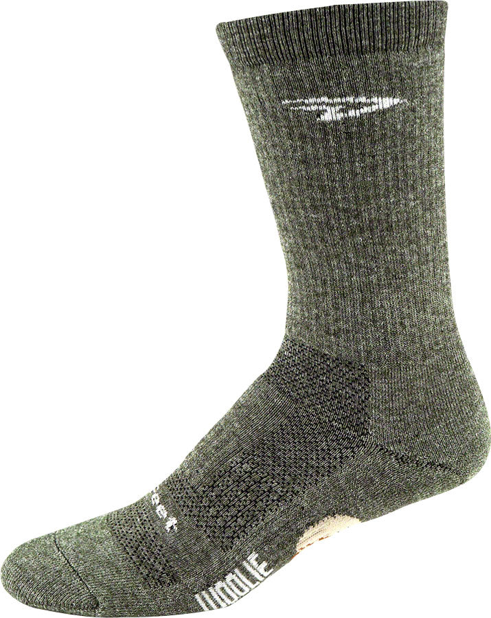 DeFeet Woolie Boolie Comp Socks - 6 inch, Loden Green, Medium
