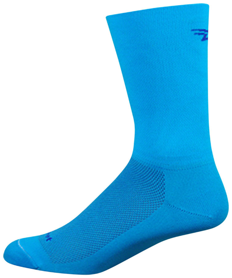 DeFeet Aireator D-Logo Double Cuff Socks - 6 inch, Process Blue, Medium
