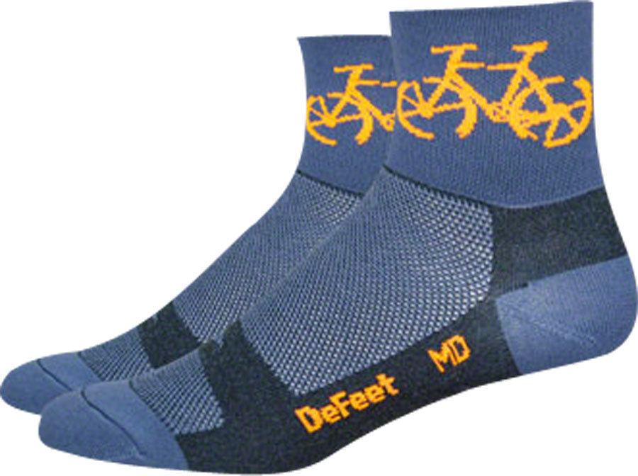 DeFeet Aireator Townee Socks - 3 inch, Graphite, Large