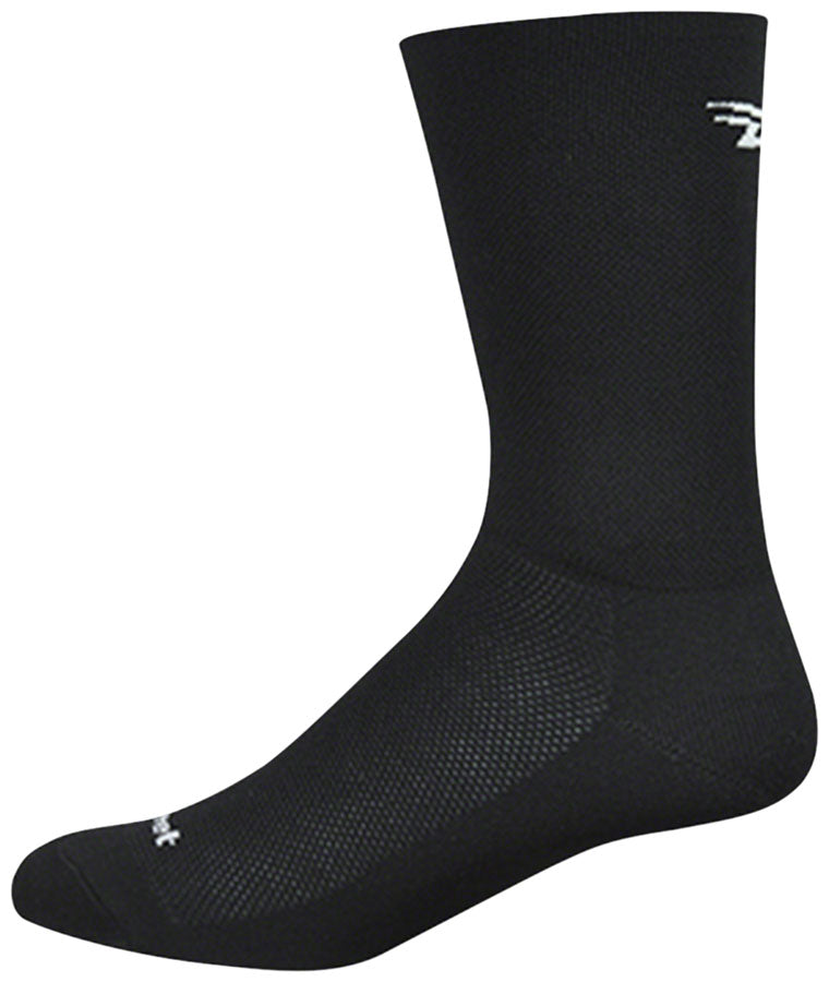 DeFeet Aireator D-Logo Double Cuff Socks - 6 inch, Black, Large