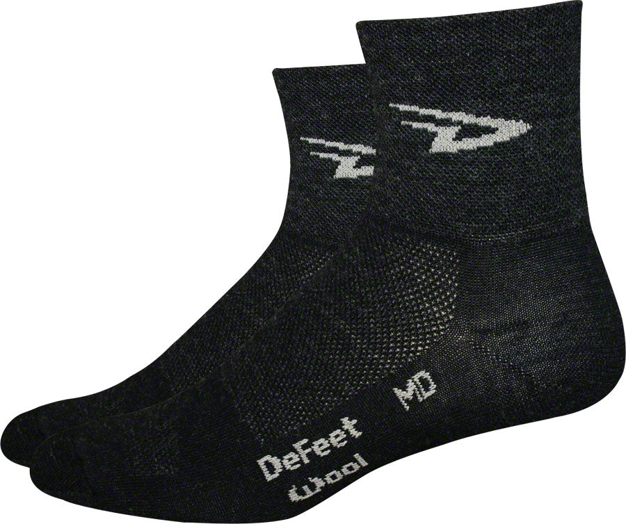 DeFeet Wooleator Sock: Charcoal XL MPN: WAC401 UPC: 682864030142 Sock Wooleator Socks