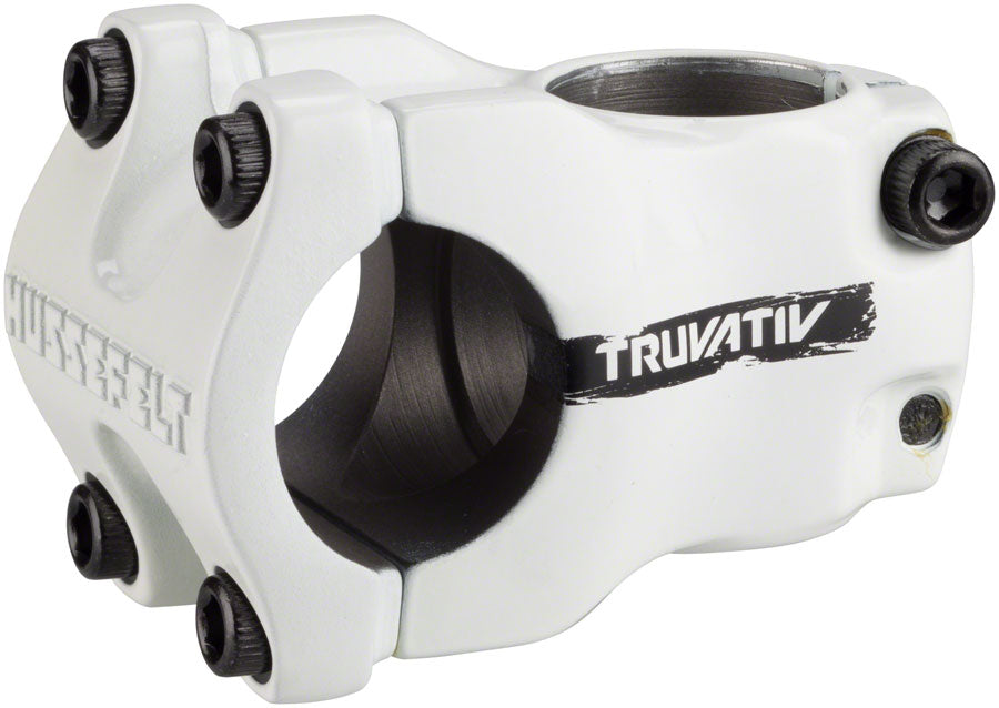 "TruVativ Hussefelt Stem - 40mm, 31.8 Clamp, +/-0, 1 1/8"", Aluminum, White - Stems - Hussefelt Stem"