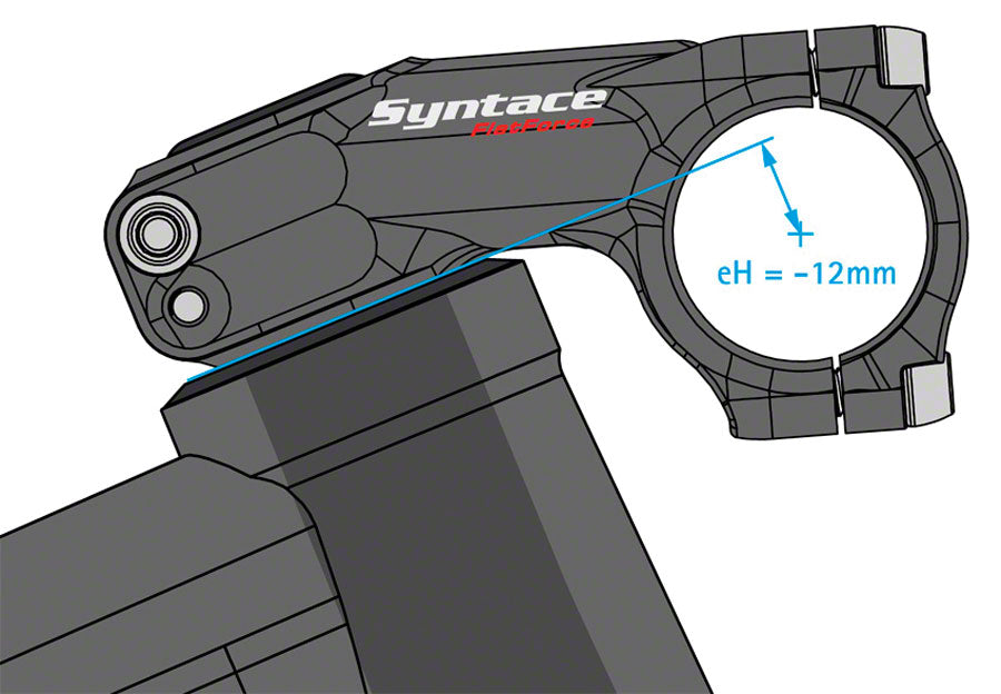 "Syntace Flatforce Stem - 44mm, 31.8 Clamp, -30, 1 1/8"", Alloy, Black - Stems - Flatforce Stem"