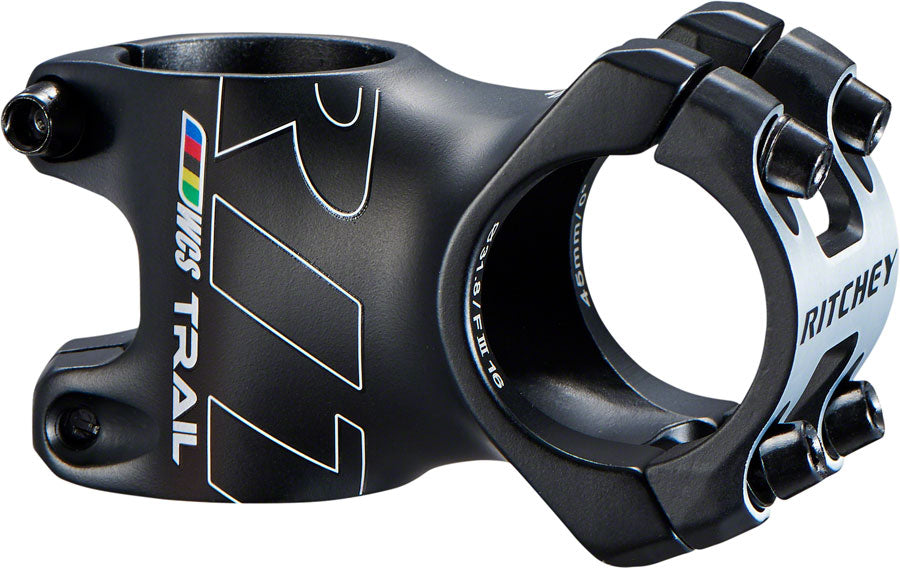 Ritchey WCS Trail Stem: 45mm, +/- 0, 31.8, 1-1/8, Blatte MPN: 31455427022 UPC: 796941317146 Stem WCS Trail