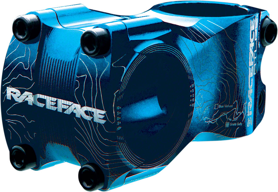 "RaceFace Atlas Stem - 65mm, 31.8 Clamp, +/-0, 1 1/8"", Aluminum, Blue MPN: ST12A31.865X0BLU UPC: 821973186870 Stems Atlas Stem"