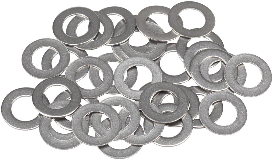 WHISKY Stainless Spoke Nipple Washers .8mm, Bag of 34