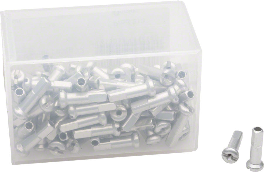 DT Swiss 2.0 x 16mm Silver Alloy Nipples, Box of 100