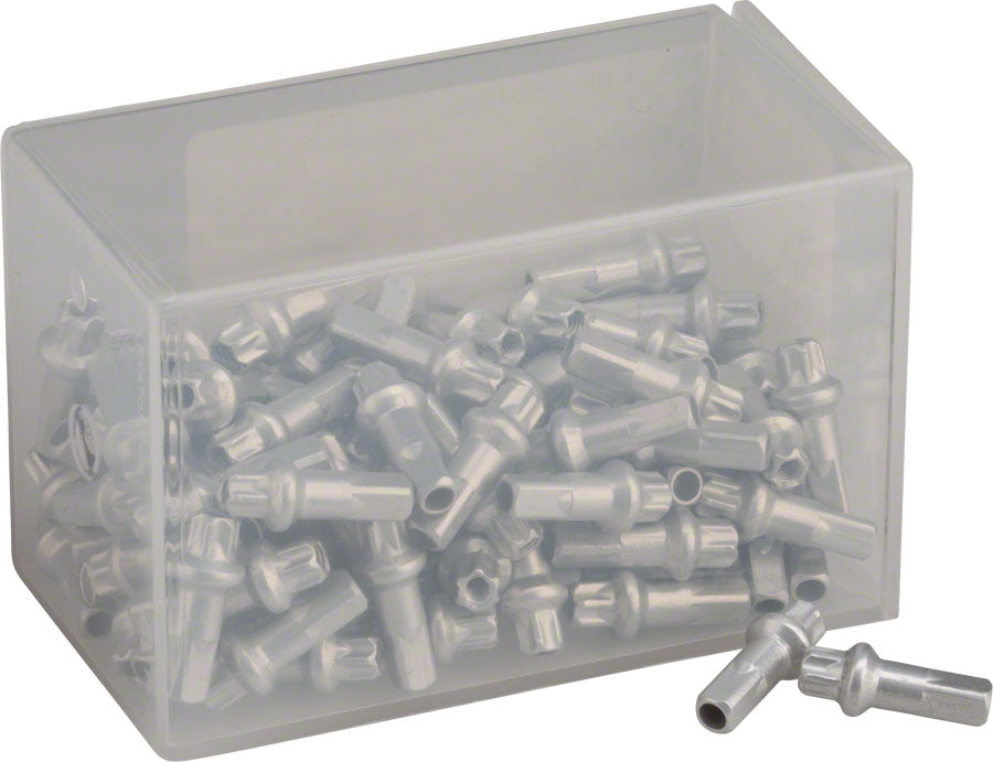Box of 100 DT Swiss Pro Head Brass Nipples Silver 2.0 x 14mm