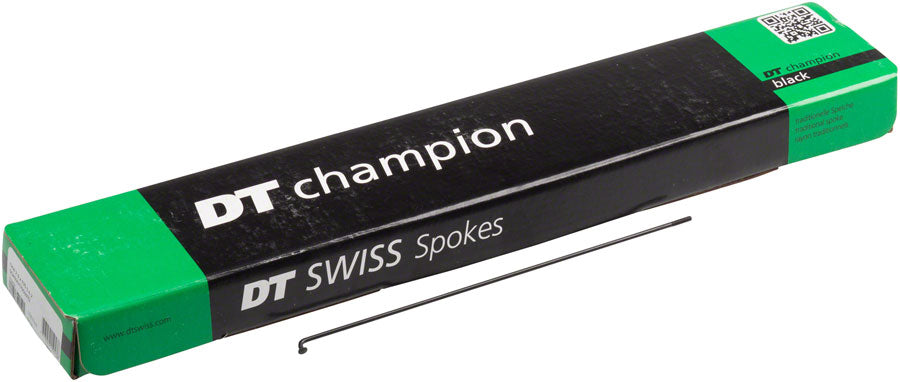 DT Swiss Champion Spoke: 2.0mm, 268mm, J-bend, Black, Box of 100 MPN: SCH020268S0100 Spoke, Bulk Champion 2.0 Black