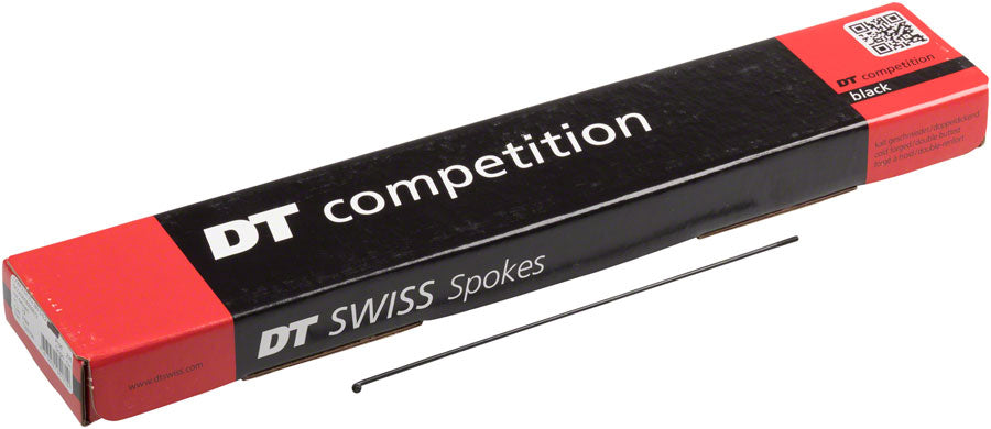 DT Swiss Competition Spoke: 2.0/1.8/2.0mm, 291mm, J-bend, Black, Box of 100