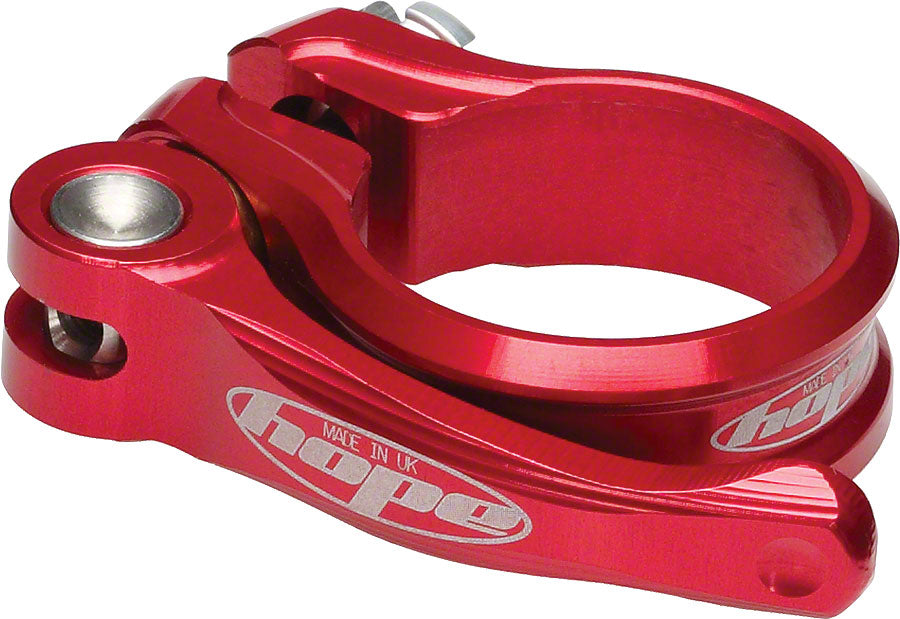 HOPE 34.9mm QR Seatclamp Red MPN: SCRQR34.9 Seatpost Clamp Quick Release