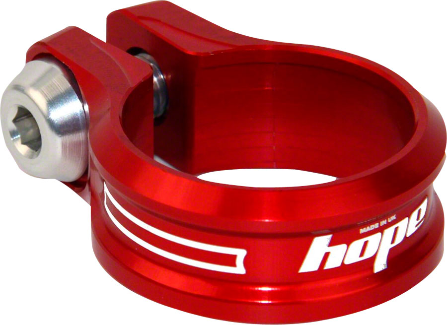 Hope Bolt Seat Clamp, 34.9mm, Red