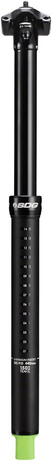 SDG Tellis Dropper Seatpost - 30.9mm, 125mm, Black - Dropper Seatpost - Tellis Dropper Seatpost