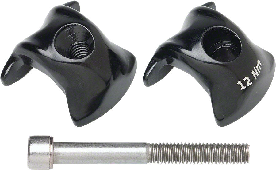 Ritchey WCS Carbon 1-Bolt Seatpost Clamp 7x9.6mm Rails, Black MPN: 55055467003 UPC: 796941412421 Seatpost Part 1-Bolt Seatpost Saddle Rail Clamps