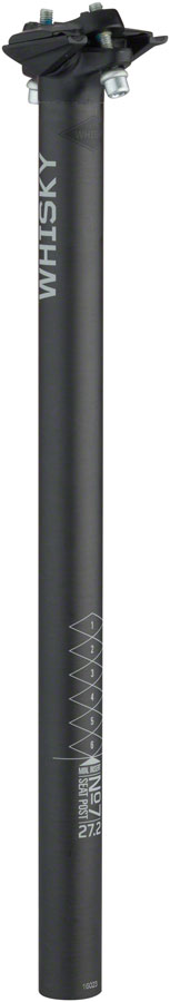WHISKY No.7 Carbon Seatpost - 27.2 x 400mm, 0mm Offset, Matte Carbon UPC: 708752132900 Seatpost No.7 Carbon Seatposts