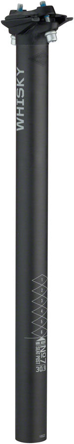 WHISKY No.7 Carbon Seatpost - 30.9 x 400mm, 0mm Offset, Matte Carbon