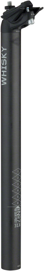WHISKY No.7 Carbon Seatpost - 31.6 x 400mm, 18mm Offset, Matte Carbon