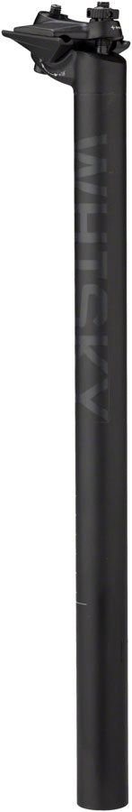WHISKY No.7 Alloy Seatpost - 27.2 x 400mm, 18mm Offset, Matte Black