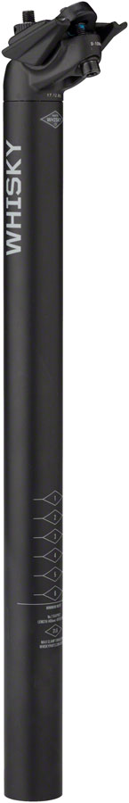 WHISKY No.7 Alloy Seatpost - 31.6 x 400mm, 18mm Offset, Matte Black - Seatpost - No.7 Alloy Seatposts
