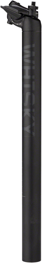 WHISKY No.7 Alloy Seatpost - 31.6 x 400mm, 18mm Offset, Matte Black