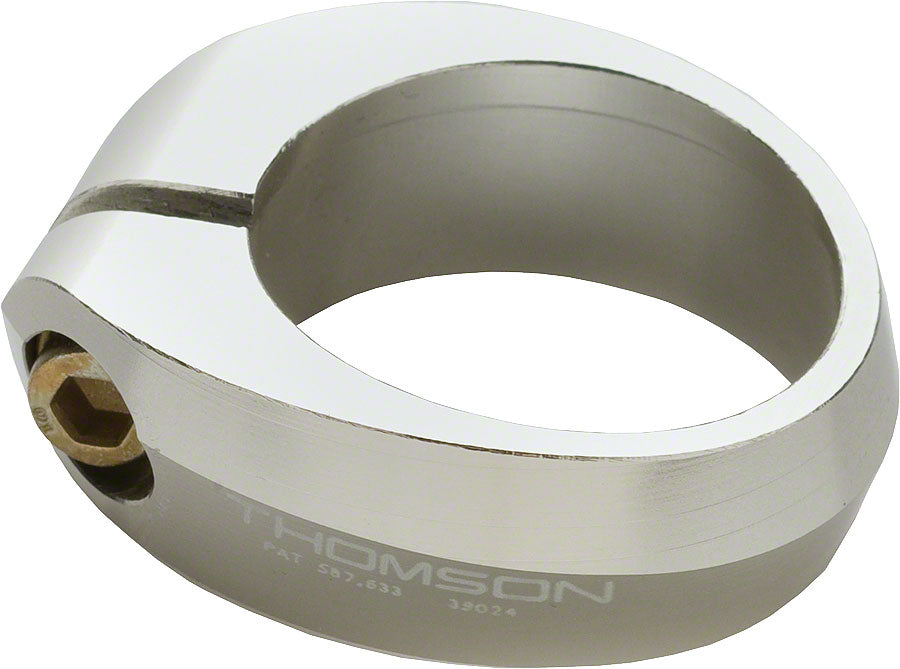 Thomson Seatpost Clamp: 35.0 Silver MPN: SC-E104 SILVER UPC: 875850005631 Seatpost Clamp Seatpost Clamps