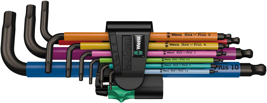Wera 950/9 Hex-Plus SB L-Key Hex Wrench Set - Metric, Multicolor