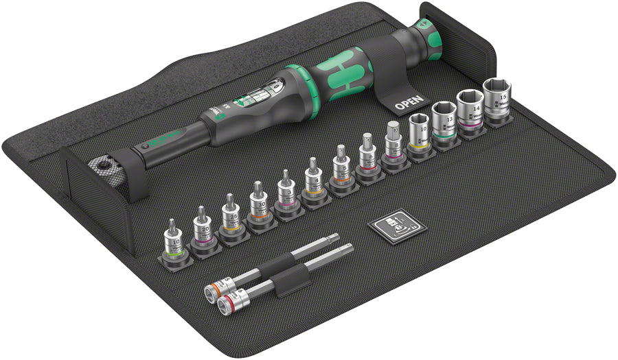 Wera Bicycle Set Torque 1 Torque Wrench Set - 16 piece