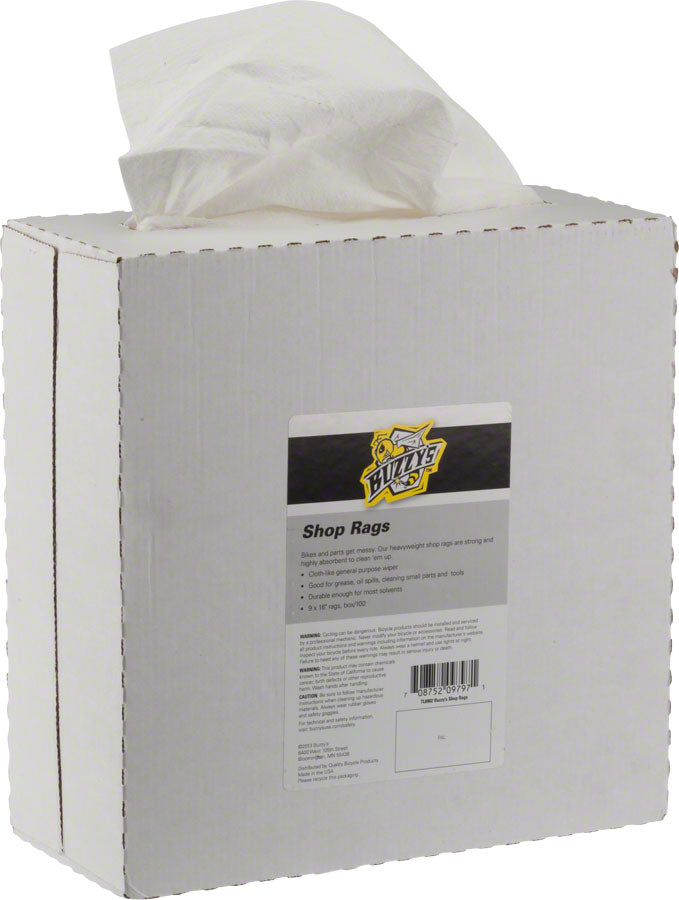 Buzzy's Shop Rags Heavyweight Box/100 MPN: TL0902 UPC: 708752097971 Miscellaneous Shop Supply Shop Rags