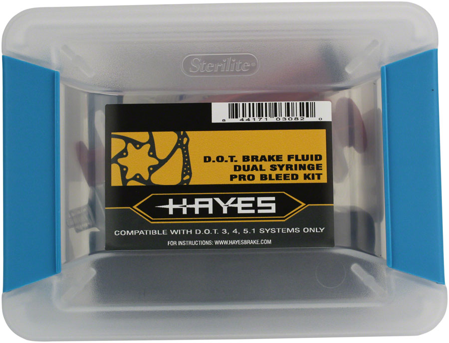 Hayes Pro Bleed Kit for DOT Brakes, includes 4 oz of DOT 5.1 fluid - Bleed Kit - Pro Bleed Kits