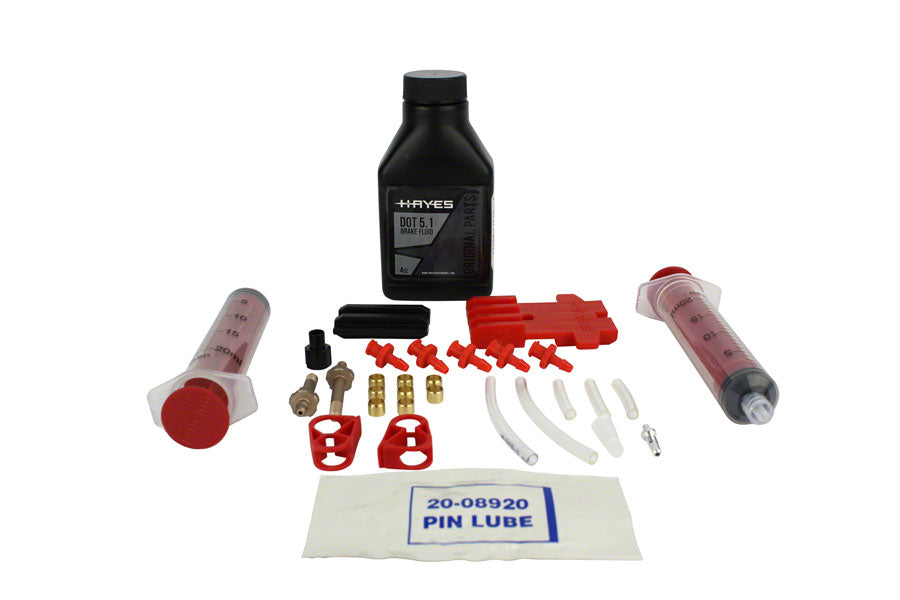 Hayes Pro Bleed Kit for DOT Brakes, includes 4 oz of DOT 5.1 fluid MPN: 98-36770 UPC: 844171073025 Bleed Kit Pro Bleed Kits