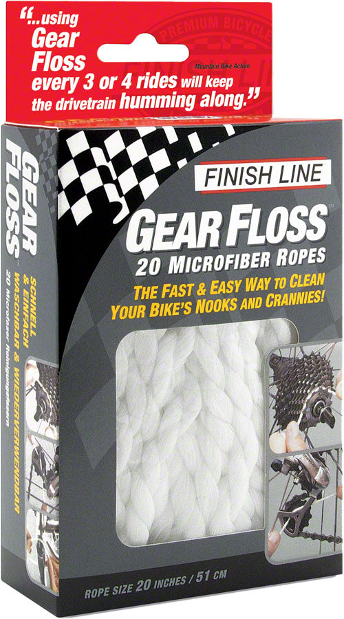 Finish Line Gear Floss Microfiber Cleaning Rope MPN: GF0200101 UPC: 036121950047 Cleaning Tool Gear Floss
