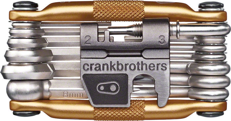 Crank Brothers Multi-19 Bicycle Tool: Gold with flask
