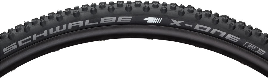 Schwalbe X-One Bite Tire - 700 x 33, Tubeless, Folding, Black, Evolution Line