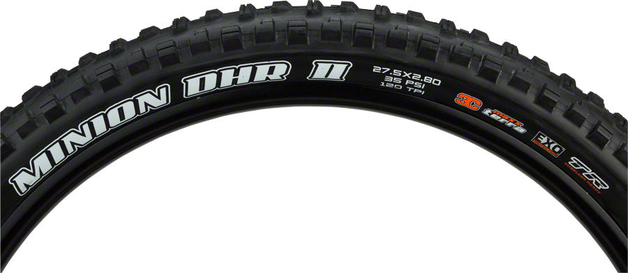Maxxis Minion DHR II Tire - 27.5 x 2.8, Tubeless, Folding, Black, 3C Maxx Terra, EXO