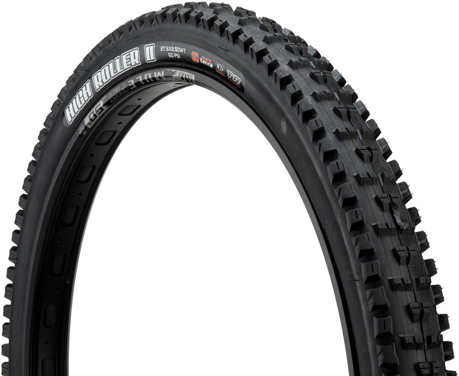 Maxxis High Roller II Tire - 27.5 x 2.5, Tubeless, Folding, Black, 3C Maxx Terra, EXO, Wide Trail MPN: TB85983000 Tires High Roller II Tire