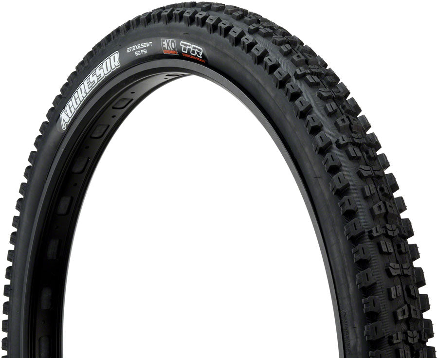 Maxxis Aggressor Tire 27.5 x 2.50, Folding, 60tpi, Dual Compound, EXO, Tubeless Ready, Wide Trail, Black MPN: TB85984000 UPC: 4717784033228 Tire Aggressor Tire