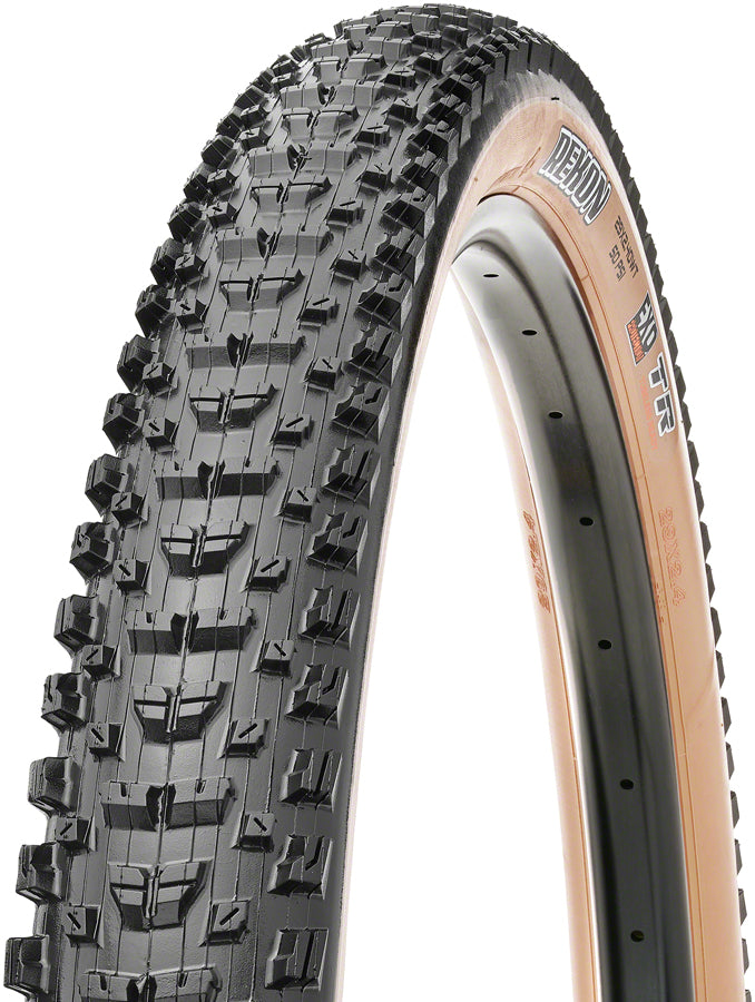 Maxxis Rekon Tire - 29 x 2.4, Tubeless, Folding, Black/Tan, Dual, EXO, Wide Trail