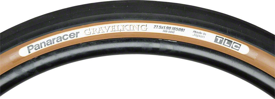 Panaracer GravelKing Tire - 650b x 48, Tubeless, Folding, Black/Brown