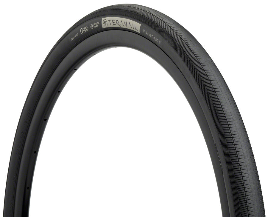Teravail Rampart Tire - 700 x 42, Tubeless, Folding, Black, Durable