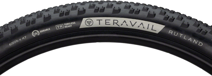 Teravail Rutland Tire - 650b x 47, Tubeless, Folding, Black, Light and Supple - Tires - Rutland Tire