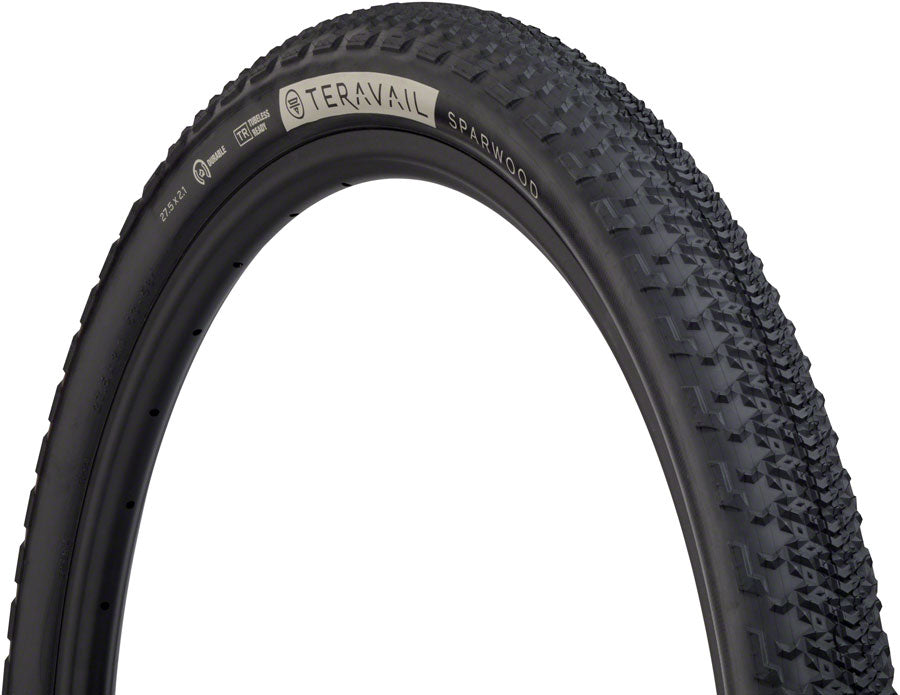 Teravail Sparwood Tire - 27.5 x 2.1, Tubeless, Folding, Black, Durable