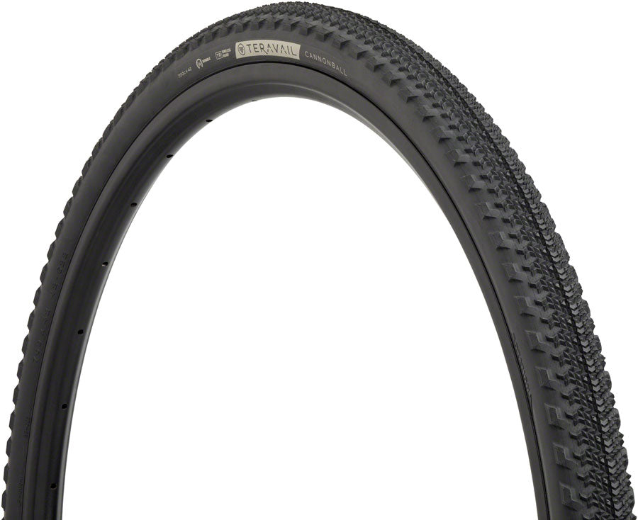 Teravail Cannonball Tire - 700 x 42, Tubeless, Folding, Black, Light and Supple