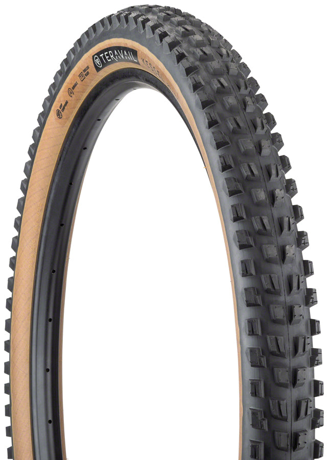 Teravail Kessel Tire - 29 x 2.6, Tubeless, Folding, Tan, Durable