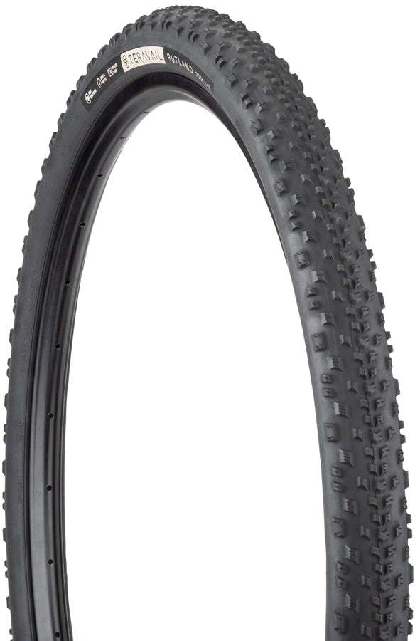 Teravail Rutland Tire - 700 x 47, Tubeless, Folding, Black, Durable