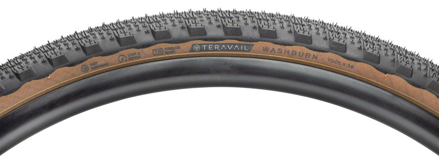 Teravail Washburn Tire - 700 x 38, Tubeless, Folding, Tan, Durable MPN: 19-000166 UPC: 708752330658 Tires Washburn Tire