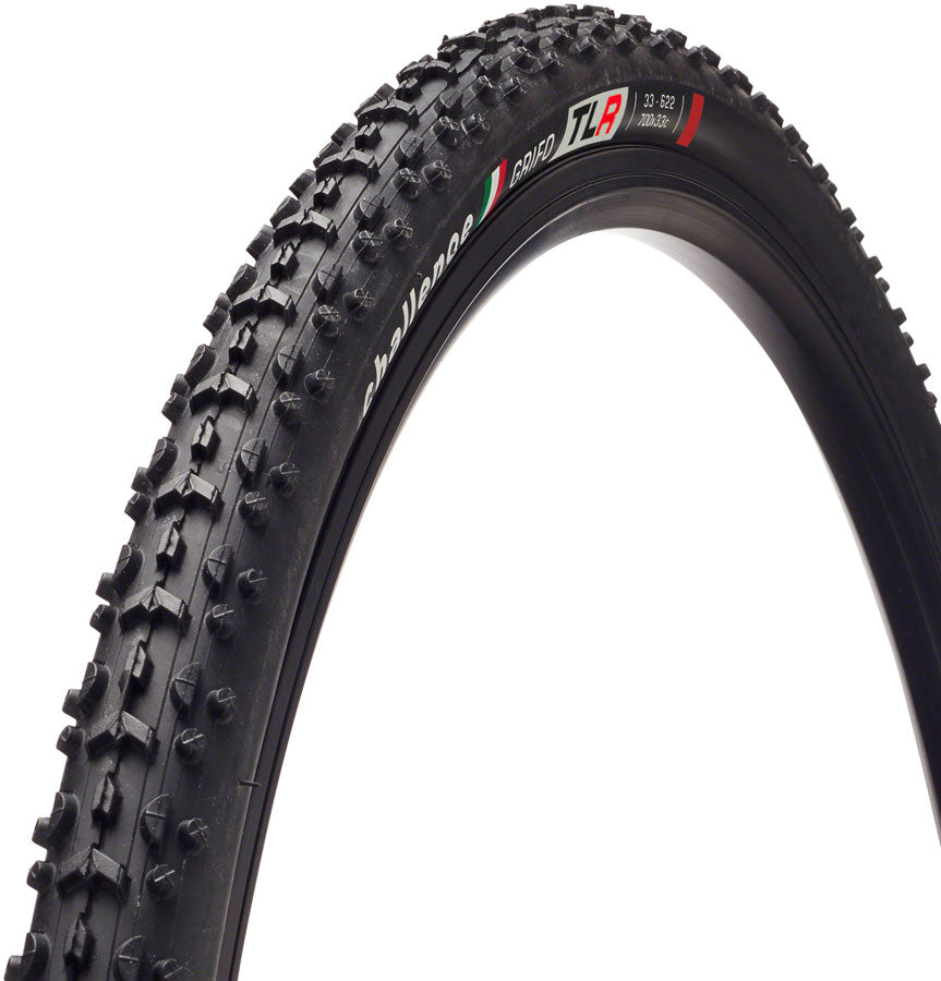 Challenge Grifo Tire - 700 x 33, Tubeless, Folding, Black, 120tpi, Vulcanized