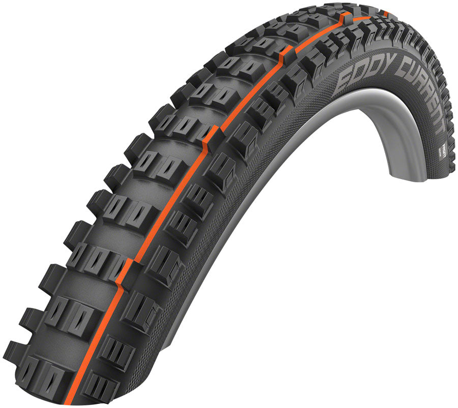 Schwalbe Eddy Current Front Tire - 27.5 x 2.8, Tubeless, Folding, Black, Evolution, SuperGravity, Addix Soft